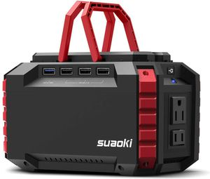 SUAOKI Portable Power Station, 150Wh Lithium Power Supply with Dual 110V AC Outlet, 4 DC Ports, 4 USB Ports, LED Flashlights for Emergency Backup for Sale in Los Angeles, CA