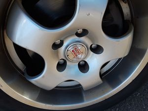 5 lug custom rims and tires off Audi A4 for Sale in Denver, CO