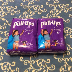 X2 Huggies Pull Ups 12M-24M Total 50 Count for Sale in Little Ferry, NJ