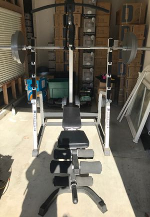 Powerhouse Weight Bench with all accessories and weights for Sale in Corona, CA