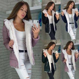 Retro Warm Plush Coats Women Winter Casual Hooded Plus Size Cardigan Cotton Jacket Ladies Coat Korean Fashion Office Parka Coat for Sale in Orlando, FL