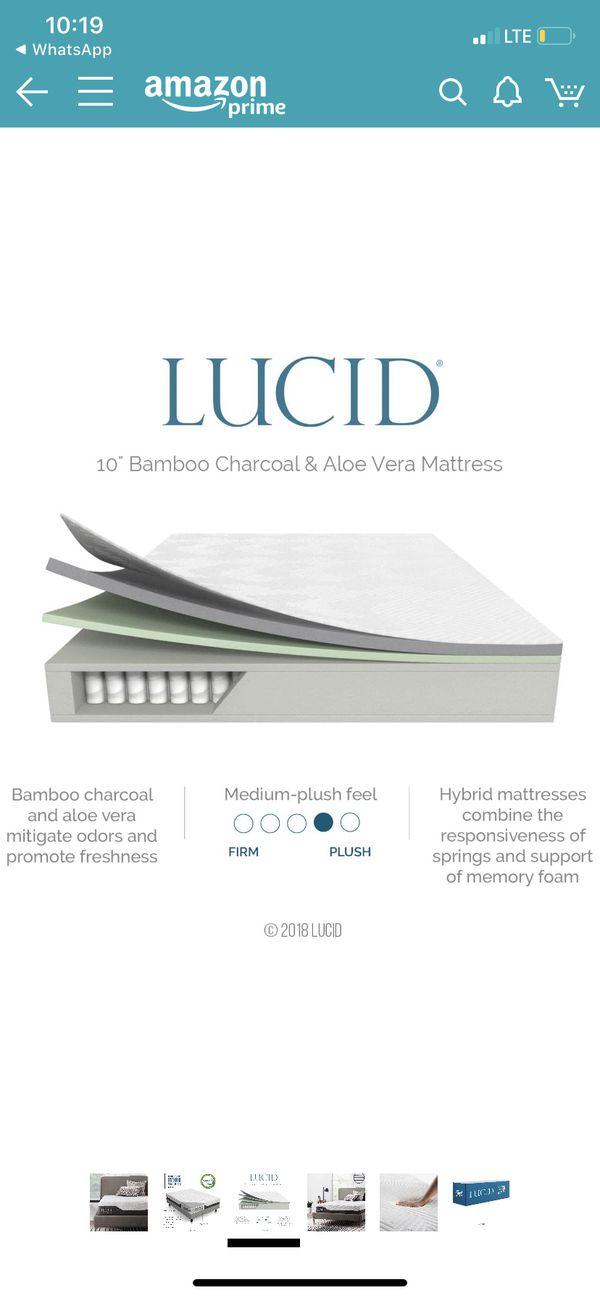 LUCID 10 inch king hybrid mattresses