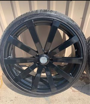 NEW CONDITION: Blk 22' Velocity Wheels WITH Lion Sport Tires!!!! for Sale in Amarillo, TX