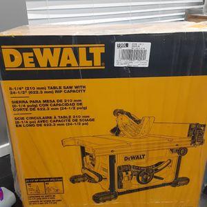 Dewalt Table Saw 8 1/4 New for Sale in Federal Way, WA