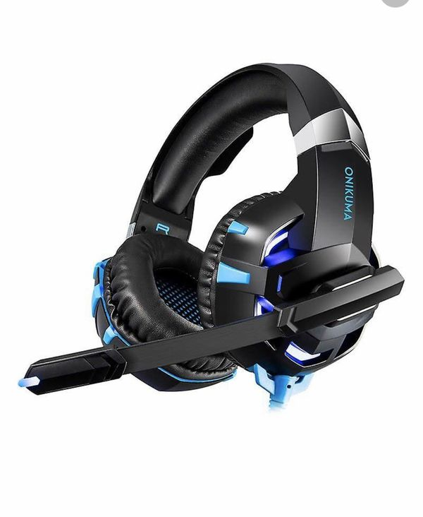 Onikuma K2 Pro, Gaming Headset, Black and blue