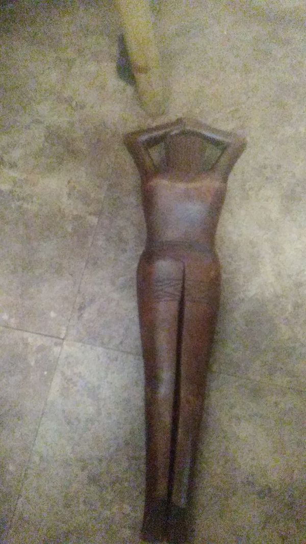 Antique wooden lady Nutcracker