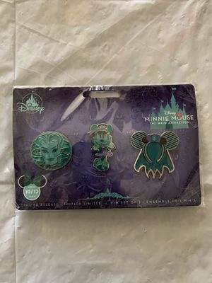 Disney Minnie Mouse Main Attraction Haunted Mansion Pins for Sale in Cerritos, CA