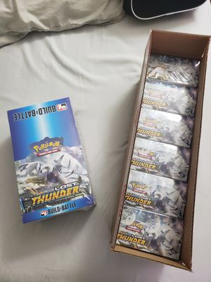 Pokemon Sun and Moon Lost Thunder TCG Booster Case & Prerelease Case for Sale in Tempe, AZ