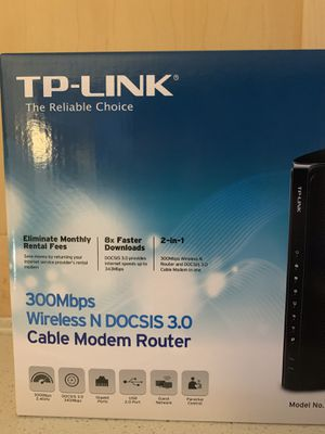 TP-Link N300 Cable Modem Router for Sale in San Francisco, CA