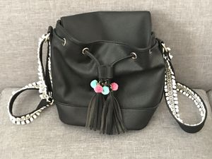 Mix 6 black leather bucket purse bag with tassels LN for Sale in Gig Harbor, WA