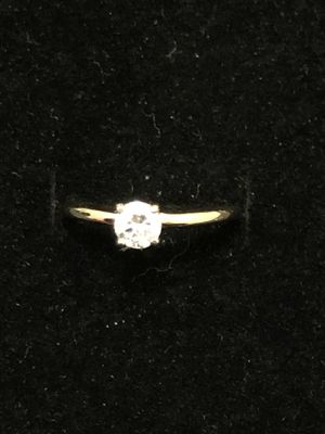 14k gold. 1/4 carat diamond 💍 wedding / promise / engagement / anniversary solitaire diamond 💍 ring for Sale in San Diego, CA