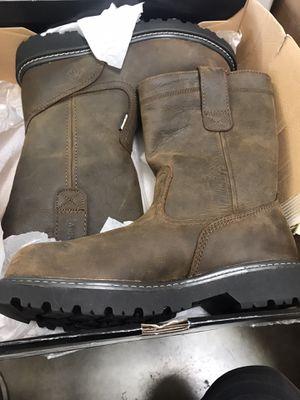 Wolverine Men's Floorhand Waterproof Wellington Work Boots - Steel Toe - Brown Size 8.5(W) for Sale in Temple City, CA