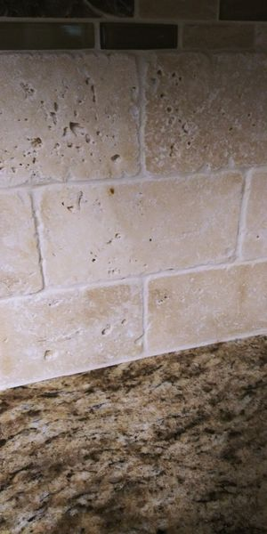 Free 86 pieces of used tile, 3 by 5 tumbled marble for Sale in Kenmore, WA