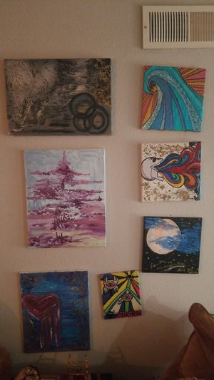 Assortment of 11 original paintings for Sale in Austin, TX