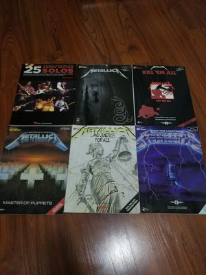 $5 ea metallica guitar learning magazines for Sale in Long Beach, CA