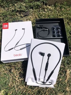 Beats X wireless Bluetooth earphones with box 💯 authentic beats Grade A condition for Sale in El Monte, CA