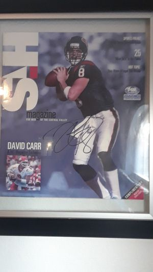 FRESNO STATE BULLDOGS DAVID CARR FRAMED AUTOGRAPHED MAGAZINE for Sale in Clovis, CA