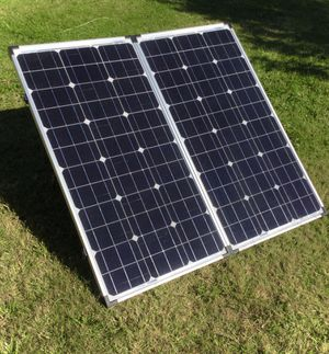ZAMP Made In America 160 Watt High Quality Solar Panel. Used about 15 weekend camping trips. Works very well. for Sale in Sacramento, CA