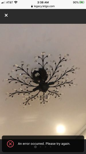 Ceiling Light fixture with crystals for Sale in Baldwin, NY