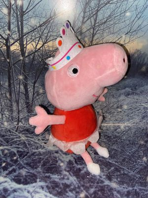 "White Crown Peppa Pig plush toy approximately 10"" for Sale in Bellflower, CA"