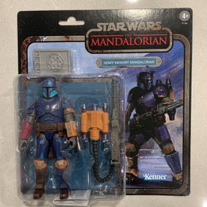 Heavy Infantry Mandalorian *MINT* Black Series Credit Collection Star Wars Figure Hasbro retro Disney for Sale in Lewisville, TX