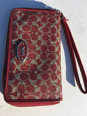 Coach wristlet red for Sale in Denver, CO