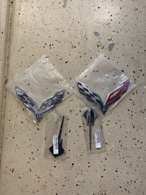 C7 corvette stingray OEM chrome emblems for Sale, used for sale  Ontario, CA