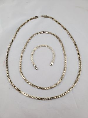 Set of 3 sterling 925 bracelet and Necklaces for Sale in Arvada, CO