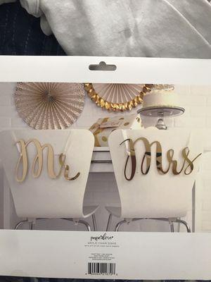 Mr. & Mrs. Wedding chair signs for Sale in Staunton, VA