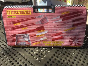 18 Pieces BBQ Grilling Set with Hard Case for Sale in Riverview, FL