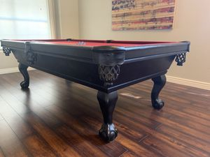 7ft black/ OR white Connelly pool table! Price includes delivery/installation! New cloth! Your choice of color! for Sale in Glendale, AZ