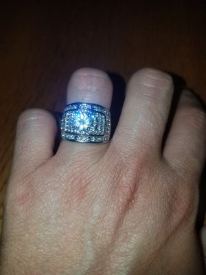 Sterling silver white sapphire ring size 7 for Sale in Dundalk, MD