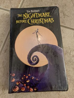 Tim Burton Nightmare Before Christmas VHS New Sealed! Collectable Disney for Sale in Davenport, FL