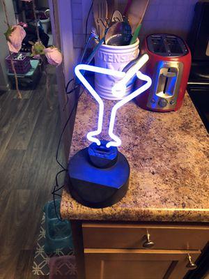 Neon martini bar lamp light for Sale in Phoenix, AZ
