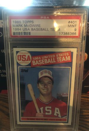 1985 Topps Mark McGwire PSA 9. Baseball cards. for Sale in St. Louis, MO