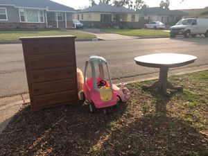 Free table, dresser, kids ride on toys for Sale in Buena Park, CA