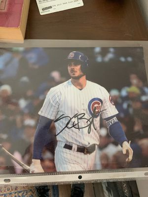 Kris Bryant Autograph picture for Sale in Kansas City, MO