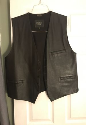 Dark brown Leather Motorcycle vest for Sale in Aurora, IL