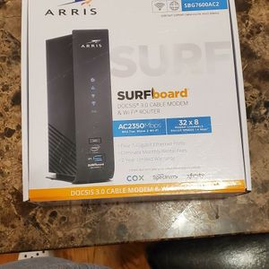 ARRIS - SURFboard Dual-Band AC2350 with 32 x 8 DOCSIS 3.0 Cable Modem - Black for Sale in Jersey City, NJ