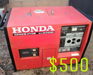 HONDA GENERATOR EX3300S 120V- 240V ELECTRIC STARTED LIKE NEW for Sale in Cypress, CA
