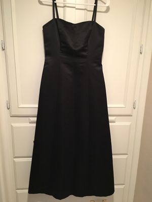 Teenager/woman's black satin classic , elegant dress size 8 for Sale in Fresno, CA