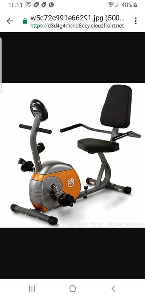 Marcy Recumbent Exercise Bike with Resistance ME-709 for Sale in Phoenix, AZ
