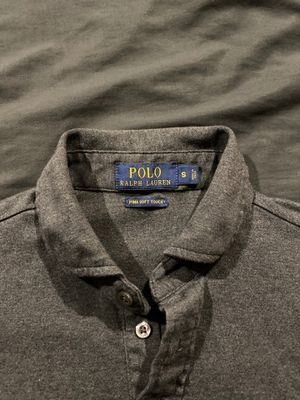 Polo Ralph Lauren Long sleeve polo Small dark gray for Sale in Des Plaines, IL