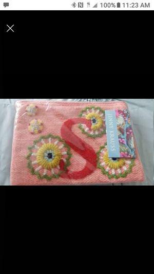 "Jenny krauss wristlet bag Custom letter ""S"" for Sale in Arvada, CO"