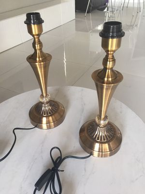 Two crystal table lamps - $35 each for Sale in Pembroke Pines, FL