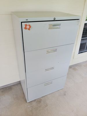 Commercial grade 4 drawer metal filing cabinet for Sale in Georgetown, TX