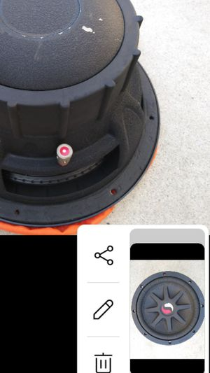 Gort BASS ? WINDOWS TINTED TINTING TINT ? KICKER subwoofer classic 10 inch perfect im trunk of honda toyota chevy ford or any type of vehicle 1 left for Sale in Norco, CA