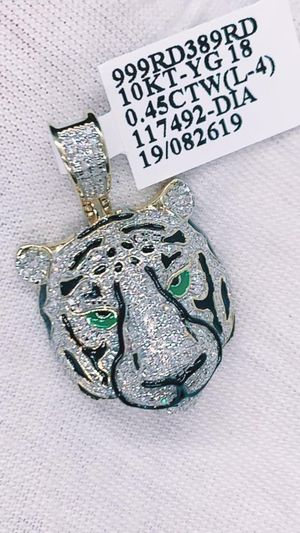 10kt Gold; 0.45 ctw diamond tiger head charm for Sale in Indianapolis, IN