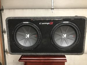 2 Kicker comp R 12 and 3000 watt amp for Sale in Cherryvale, KS