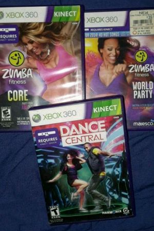 2 Zumba and 1 Dance Central XBOX 360 KINECT game. for Sale in Fresno, CA